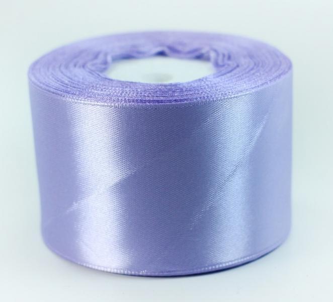 Фото Ленты, Лента атласная   однотонная ,5см Атласная лента 5 см , цвет  Сиреневый  светлый.
