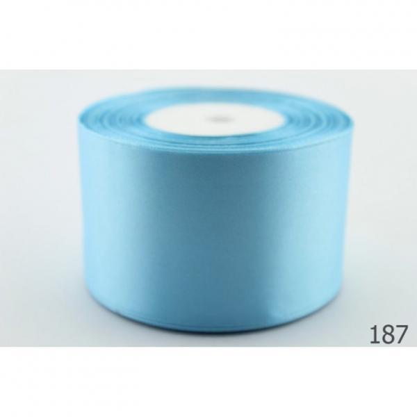 Атласная лента 5 см , цвет  Голубой.