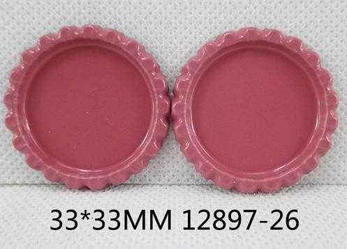 Фото Серединки ,кабашоны, Крышечки,эпоксидная наклейка Металическая  крышечка ,пепельно-розовая, по  наружи  33 мм.  Внутрений  размер  25 мм.