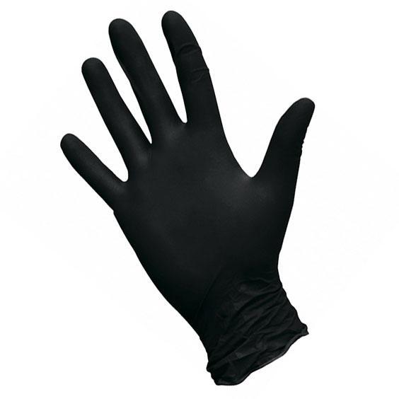 Перчатки нитриловые Safe&Care, черный, размер M, 100 шт/уп