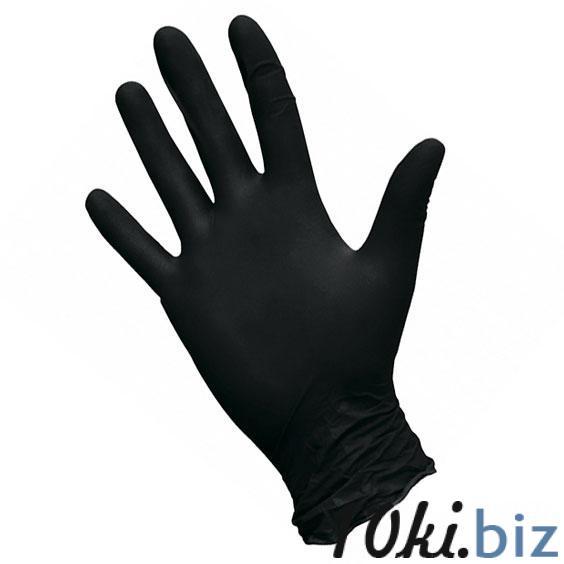 Перчатки нитриловые Safe&Care, черный, размер M, 100 шт/уп - Перчатки медицинские в Санкт-Петербурге