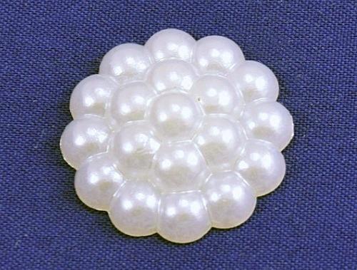 """Кабашон  пластиковый  22 мм.  """"  малина """"   Белого  цвета."""
