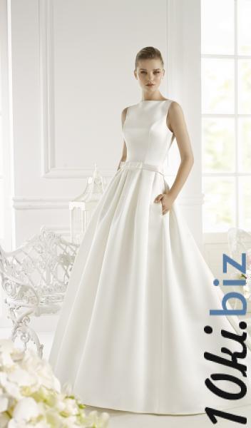 Атласное свадебное платье с карманами Genet  Свадебные платья купить на рынке Дубровка