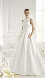 Фото Свадебные платья Атласное свадебное платье с карманами Genet