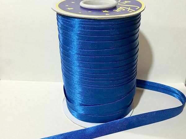 Фото Косая бейка атласная 1,5 см Косая  бейка  атласная, Синего  цвета.    Ширина  15 мм.