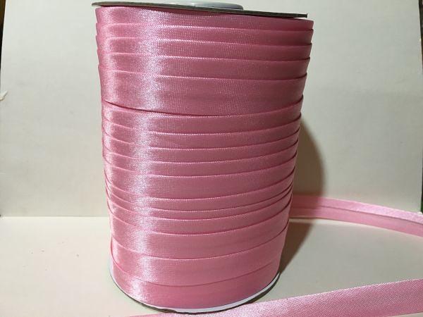 Косая  бейка  атласная.   Розового  цвета.    Ширина  15 мм.