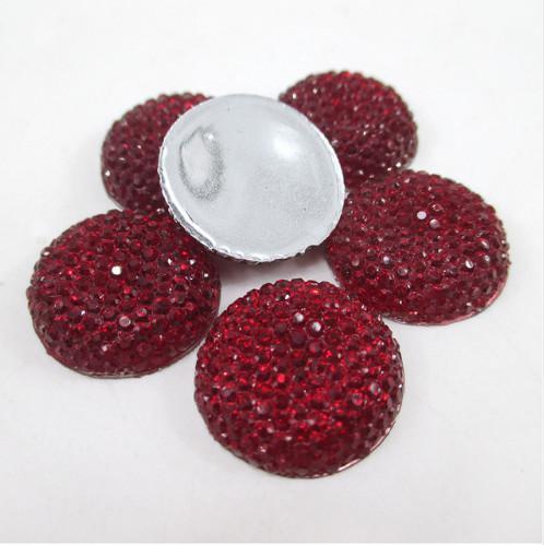 Кабашон  блестящий   Красный  ( обьёмный )  19 мм.