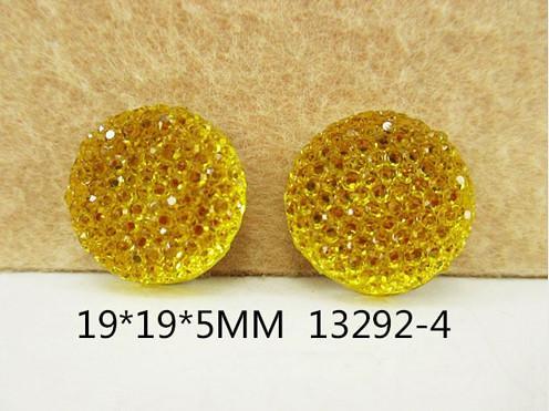 Кабашон  блестящий   Жёлтого  цвета  ( обьёмный )   19 мм.