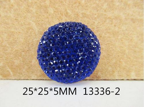 Кабашон  блестящий   Синий.  ( обьёмный )  -  25 мм.
