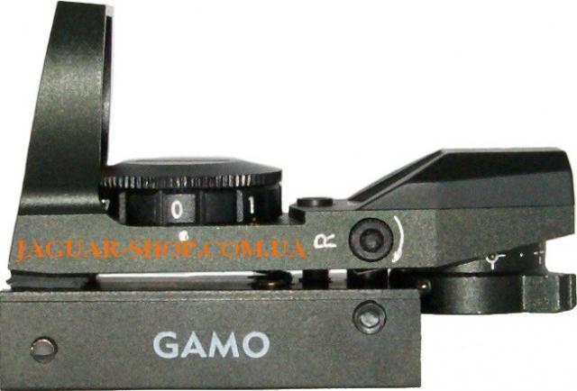 Прицел 1х23х34 GAMO коллиматорный (4 маркера) крепление 21 мм на планку Weaver