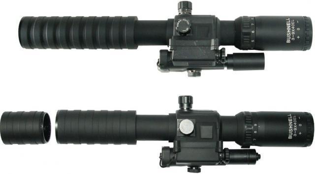 Прицел 3-9х40Е Bushnell оптический с лазерным целеуказателем