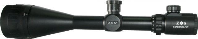 Прицел 6-24х60 АОЕ ZOS оптический с подсветкой и антипаралаксом