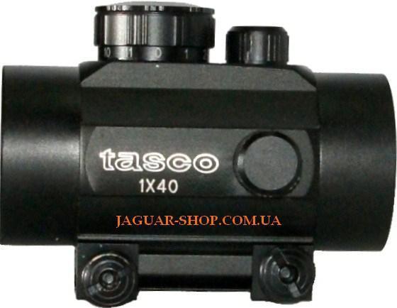 Прицел 1х40 Tasco коллиматорный с креплением 21 мм на планку Weaver