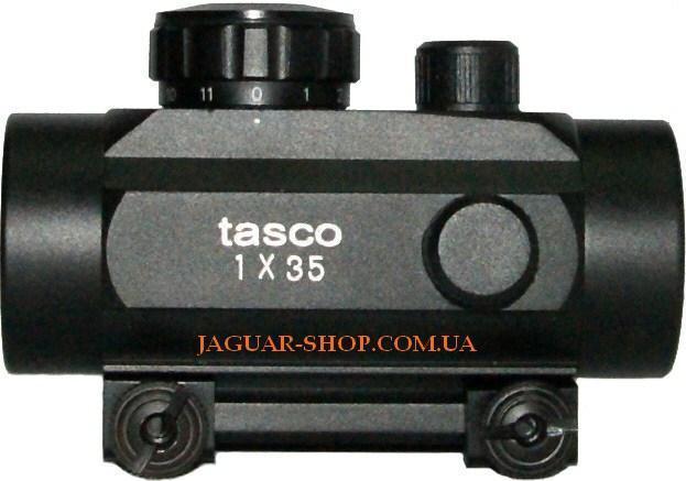Прицел 1х35 Tasco коллиматорный с креплением 21 мм на планку Weaver
