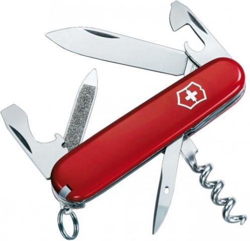 Нож 0.3802 Victorinox SPORTSMAN красный