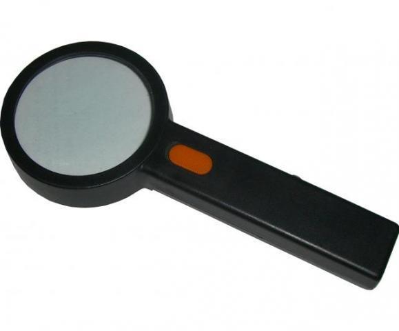 Лупа с ручкой с подсветкой 4х90   1190HB