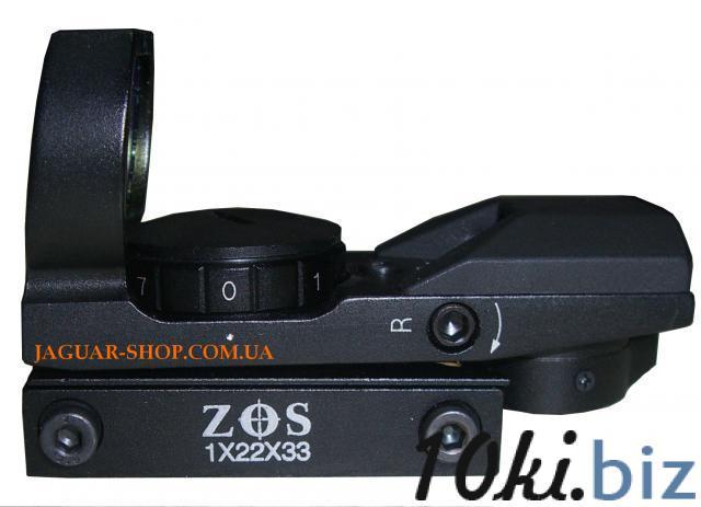 Прицел 1х22х33 ZOS коллиматорный с креплением 8 мм (4 маркера, красный) Прицелы и мушки в Украине