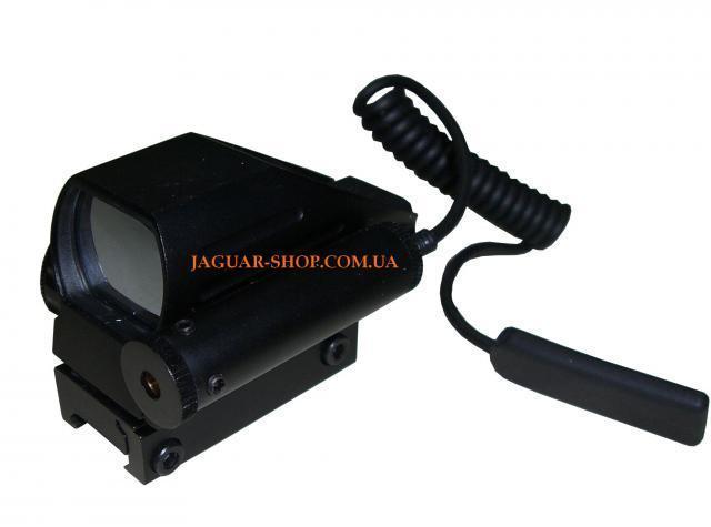 Прицел 1х22х33 коллиматорный с лазерным целеуказателем, крепление 21 мм (4 маркера, 2 цвета)