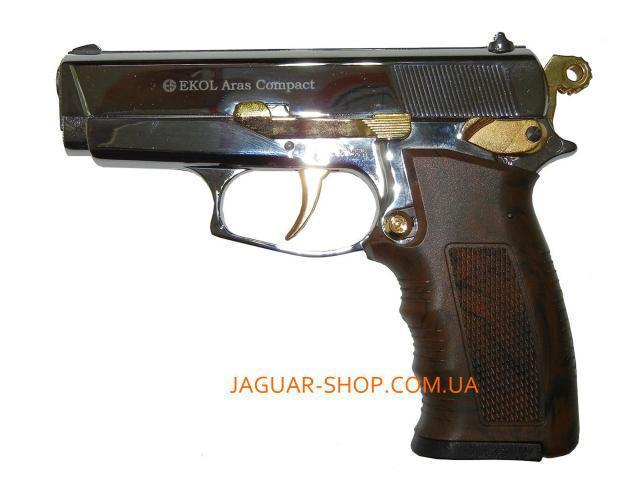 Фото Оружие, Стартовые пистолеты Пистолет сигнальный EKOL ARAS хром