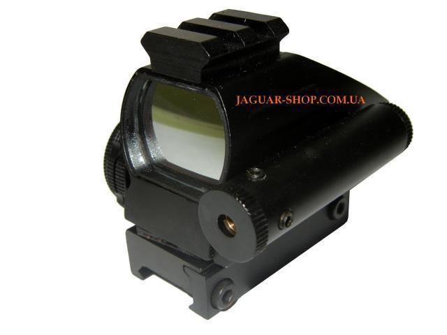 Прицел 1х22х33 коллиматорный с лазерным целеуказателем HD103С, крепление 21 мм, планка сверху (4 маркера, 2 цвета)