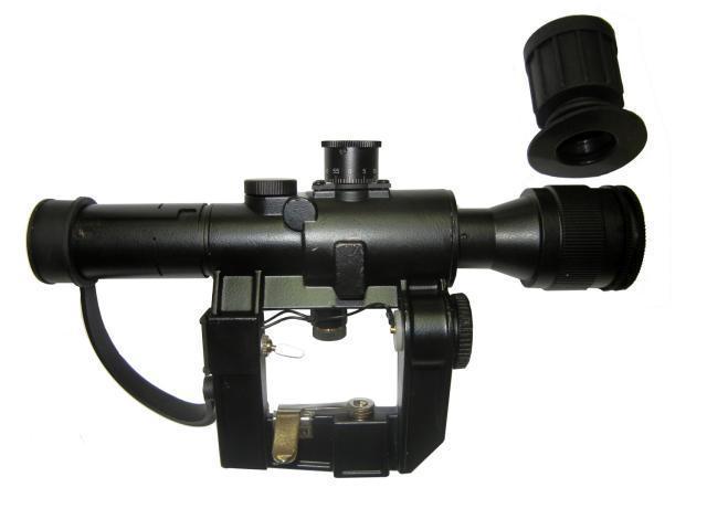 Прицел 4х26 СВД с боковым креплением, подсветкой оптический