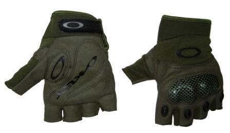 Перчатки N-6 б/пальц тактические OAKLEY р.XL черн, зел