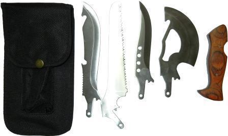 Набор туриста (топорик, пила, 2 ножа)