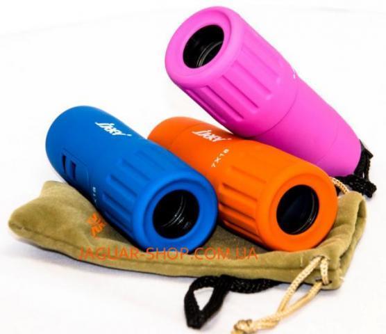 Фото Оптика, Монокуляры Монокуляр 7х18 JAXY голубой,оранж, розовый