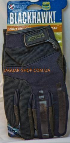 Перчатки N-4 тактические кожа+ткань Blackhawk! L-XL черные