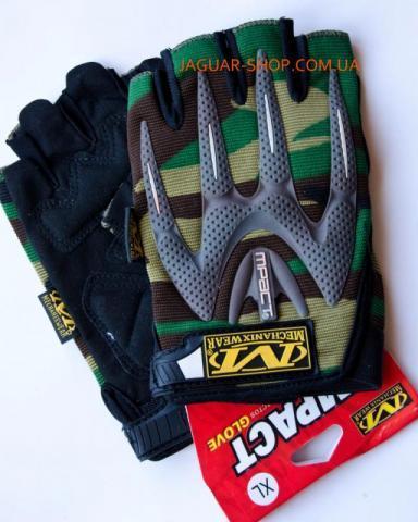Перчатки N-9 без пальцев тактические Mechanix wear L-XL камуфляж