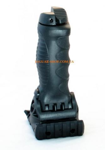 Фото Оружие, Аксесcуары и запчасти Сошки-рукоятка PJ010 пластик на планку 21 мм с боковой планкой