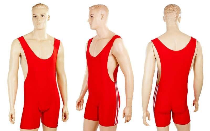 Трико для тяжелой атлетики мужское, красный (бифлекс, р-р M-XL (RUS 46-52))