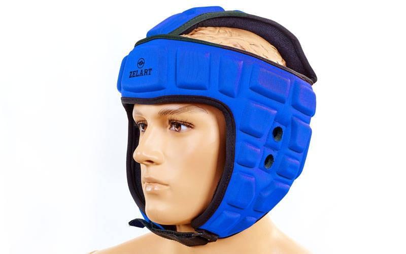 Шлем для борьбы EVA+PU ZEL  (синий, р-р M-XL)