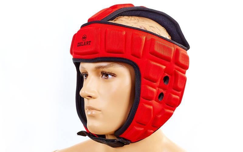 Шлем для борьбы EVA+PU ZEL  (красный, р-р M-XL)