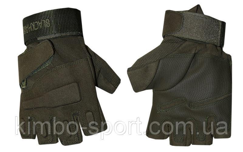 Перчатки тактические, темно-зеленые