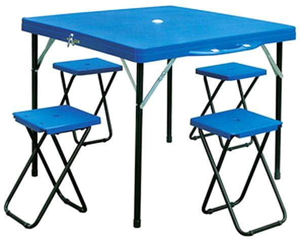Набор для пикника (стол+4стула) TO-8833 (р-р стола 85*86*69см, металл, пластик)