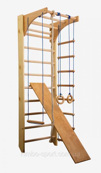"""Шведская стенка """"Комби 3"""", 220 см. c турником + веревочный набор + доска для пресса"""