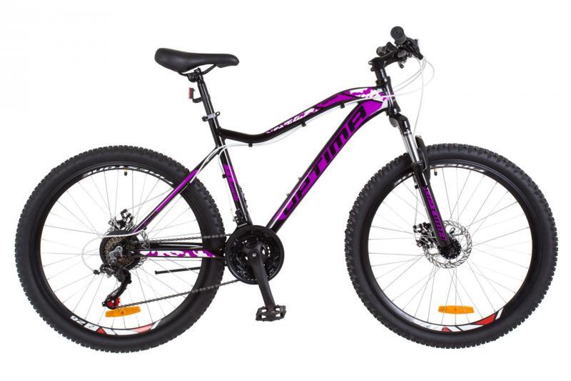 """Велосипед горный 26"""" Optimabikes ALPINA DD 2018 (черно-фиолетовый)"""