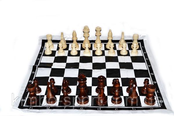 Фигуры шахматные, деревянные, лакированные, большие
