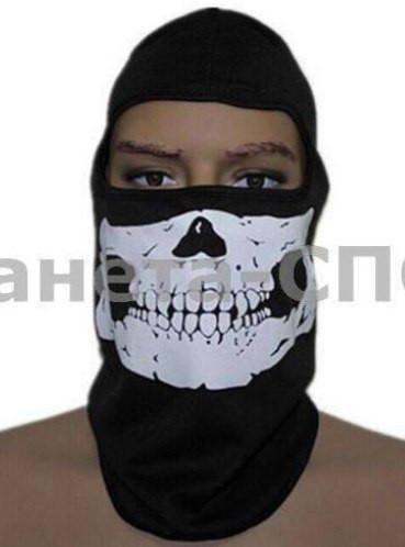 Подшлемник балаклава Скелет (PL, эластан, черный)