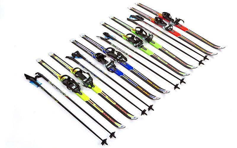 Лыжи беговые в комплекте с палками ZEL (l-лыж-120см,l-пал-100см)