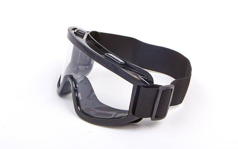 Мотоочки, очки тактические MS-908 (пластик, акрил, цвет оправы - черный, прозрачные линзы)