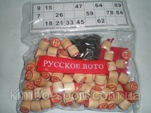 """Игра """"Русское лото"""", (деревянные бочонки). 8802"""