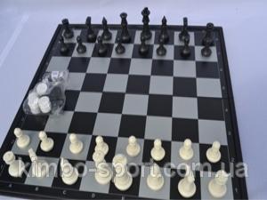 "Игра ""3 в 1"" магнитная, подарочная. 36х36 Шашки, шахматы, нарды."