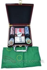 Набор покерный из 100 керамических фишек
