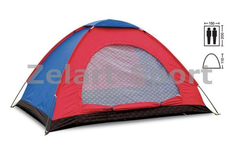 Палатка универсальная 2-х местная  (р-р 2х1,5х1,1м, PL)