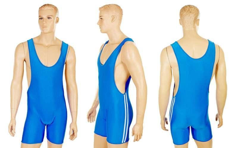 Трико для тяжелой атлетики мужское, синий (бифлекс, р-р M-XL (RUS 46-52))