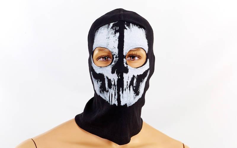 Подшлемник балаклава-маска Скелет  (коттон, черный)