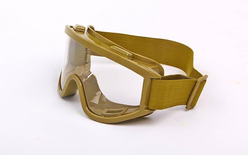 Мотоочки, очки тактические (пластик, акрил, цвет оправы - оливковый, линзы прозрачные)