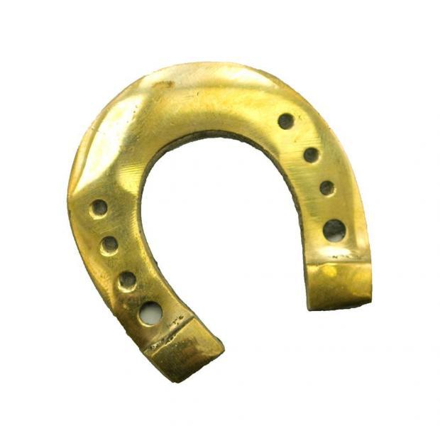 Подкова бронзовая, 5 х 5 х 0,2 см.